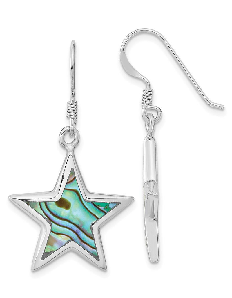 Abalone Star Earrings