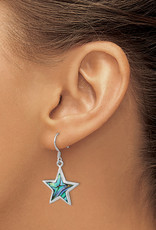 Sterling Silver Abalone Star Earrings