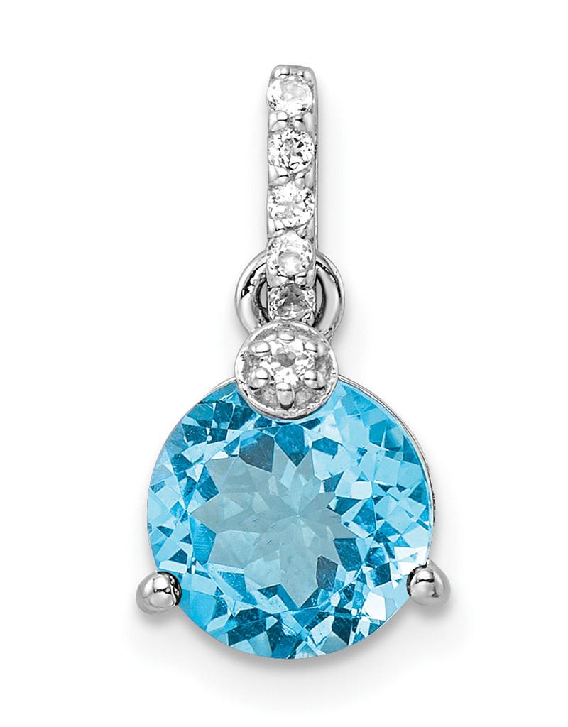 Blue & White Topaz Necklace