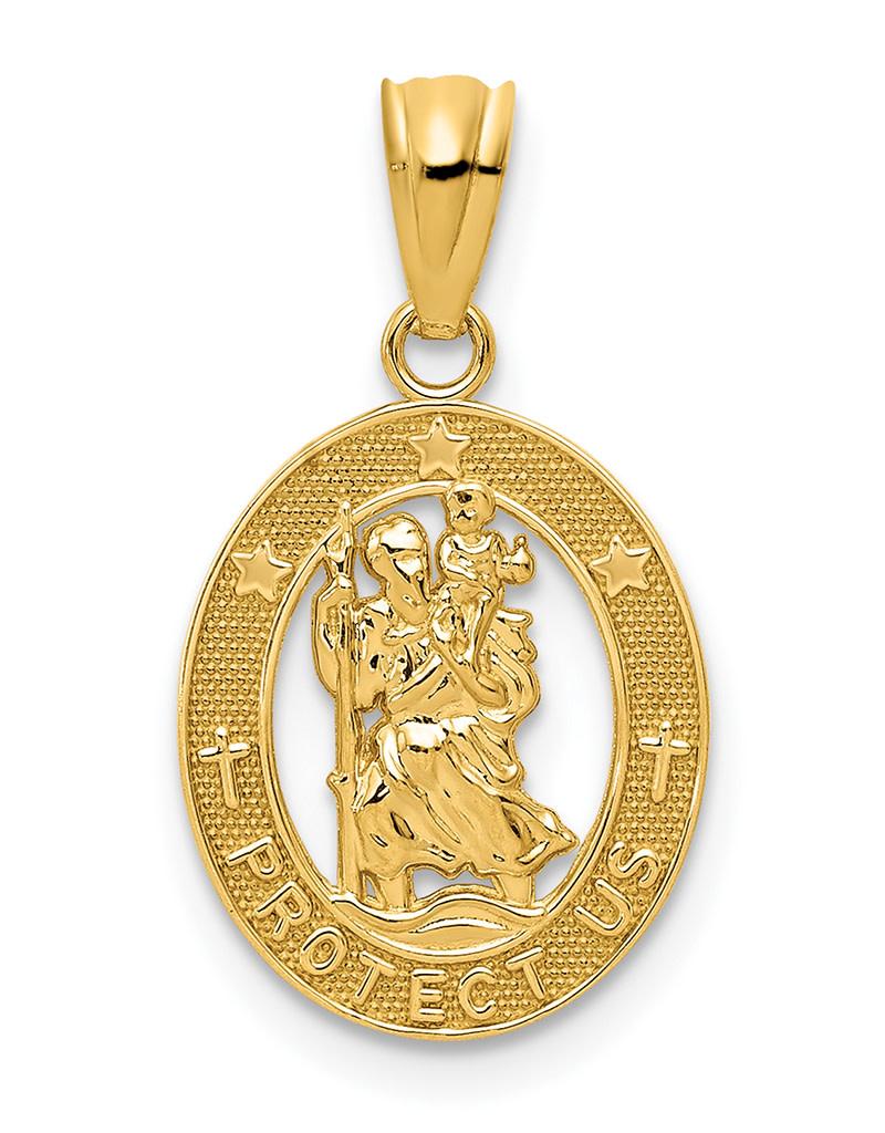 14k St. Christopher Medal