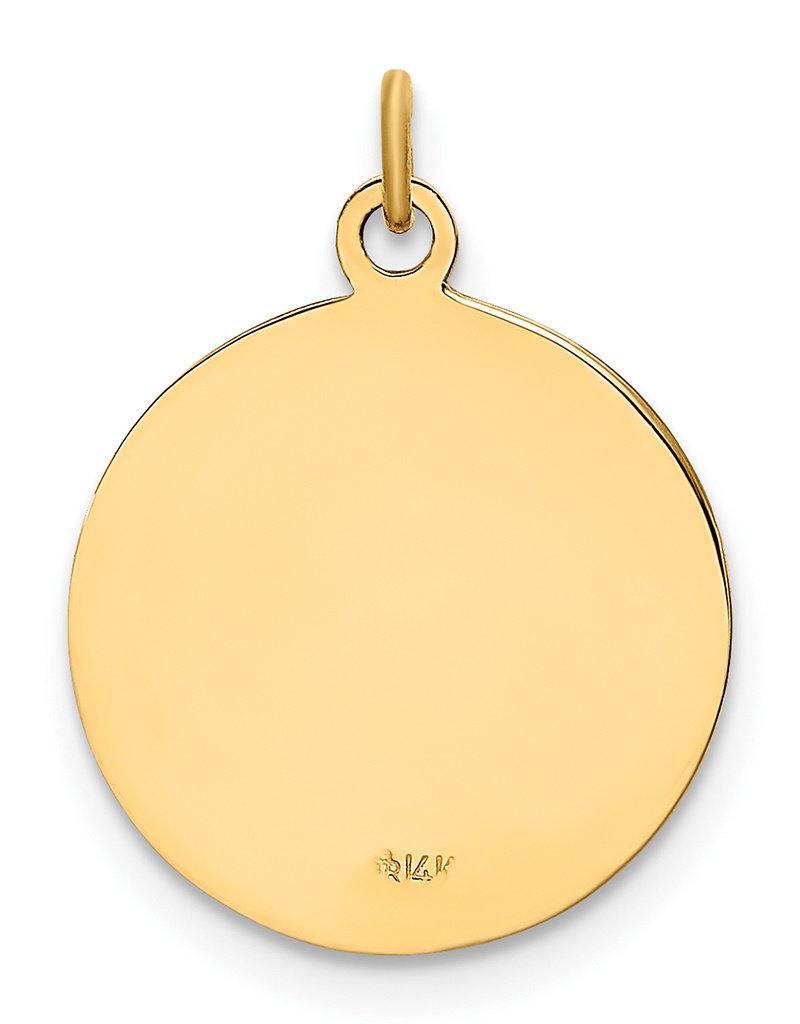 14k Gold St. Christopher Medal