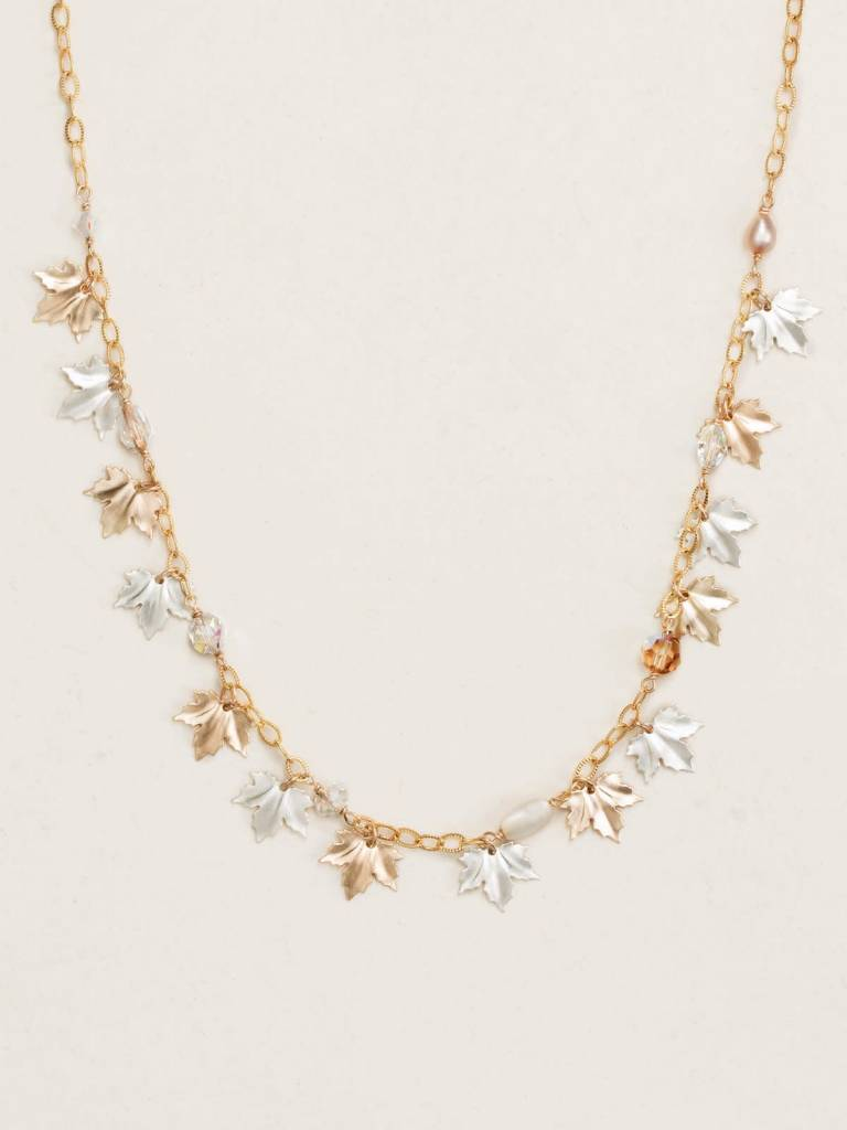 HOLLY YASHI Gold Maple Leaf Necklace *17912