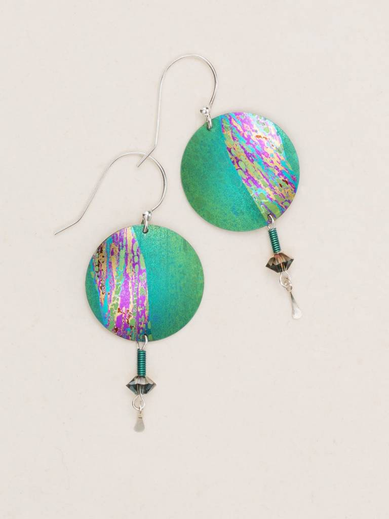 HOLLY YASHI Green Hidden Cove Earrings *70024