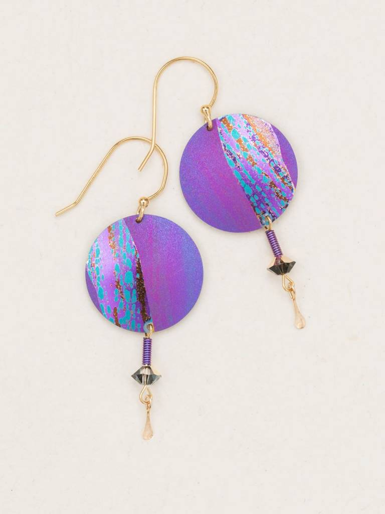 HOLLY YASHI Purple Hidden Cove Earrings *70026