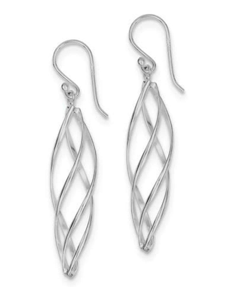 Sterling Silver Twist Cage Earrings 30mm