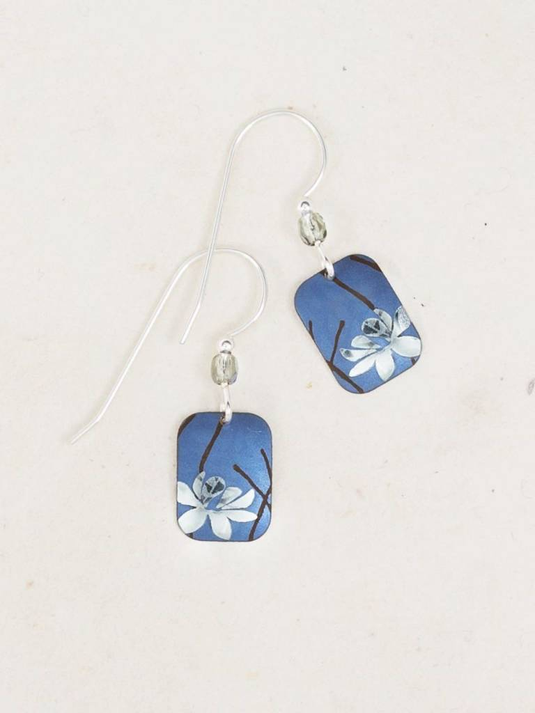 HOLLY YASHI Blue Blooming Lotus Earrings *5062