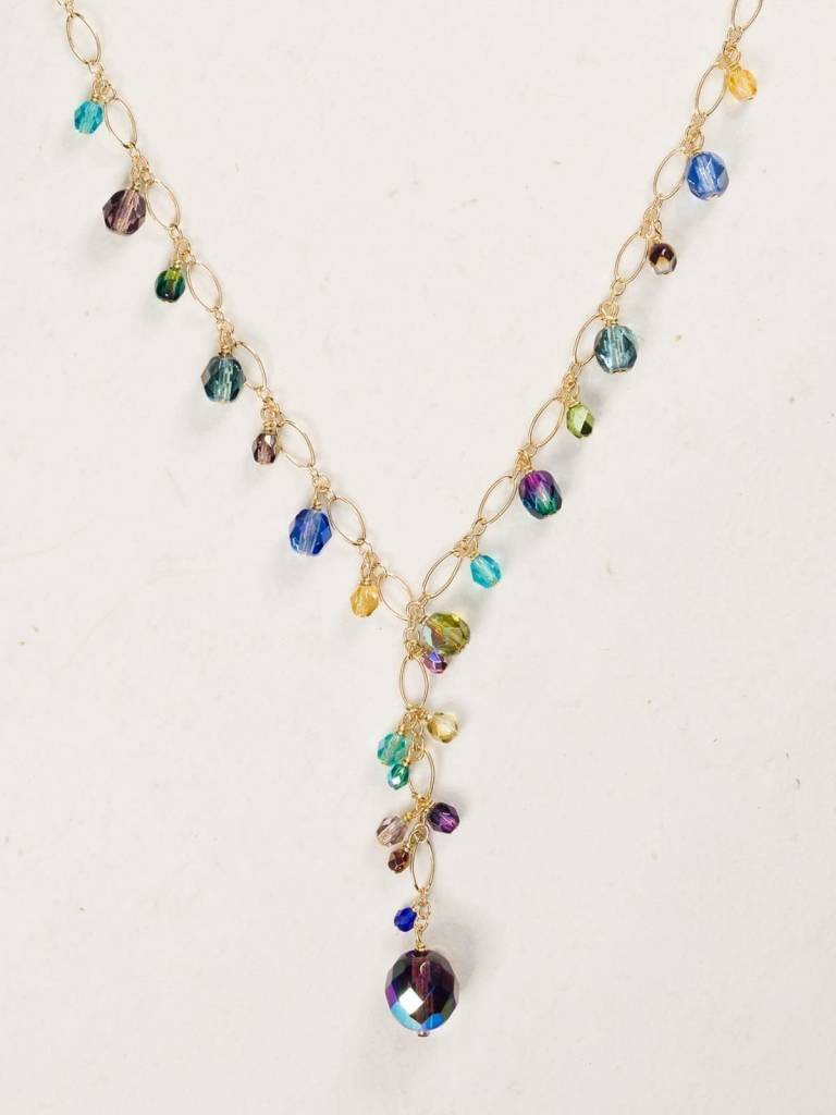 HOLLY YASHI Rainbow Confetti Necklace *8111
