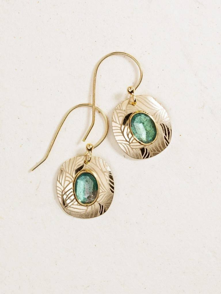 HOLLY YASHI Peacock Gold Synergy Earrings *90051