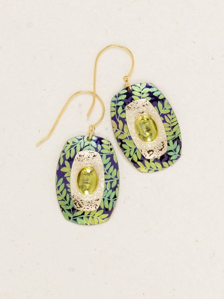 HOLLY YASHI Green Night Garden Earrings *80711