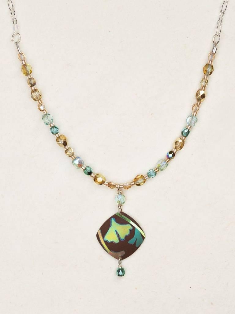 HOLLY YASHI Brown Monet's Garden Necklace *9620