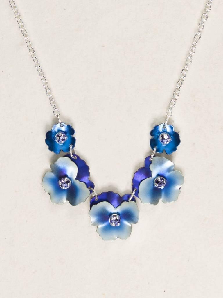 HOLLY YASHI Blue Pansy Necklace *17800