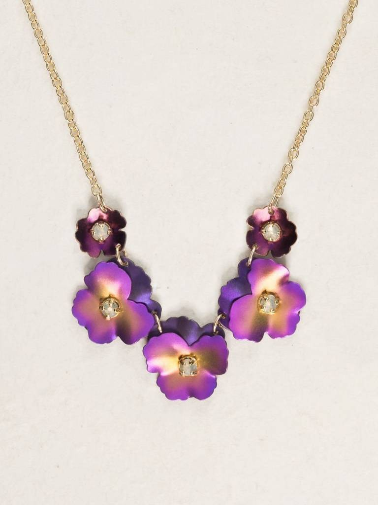 HOLLY YASHI Purple Pansy Necklace *1780
