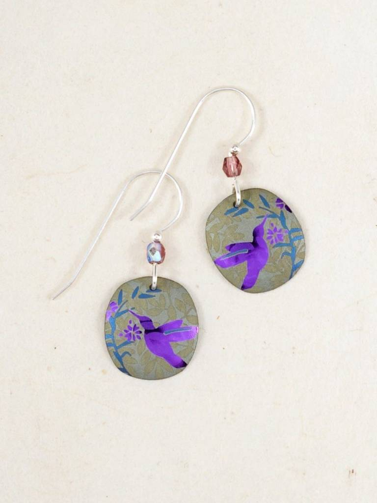HOLLY YASHI Gray Hummingbird Nectar Earrings *5171