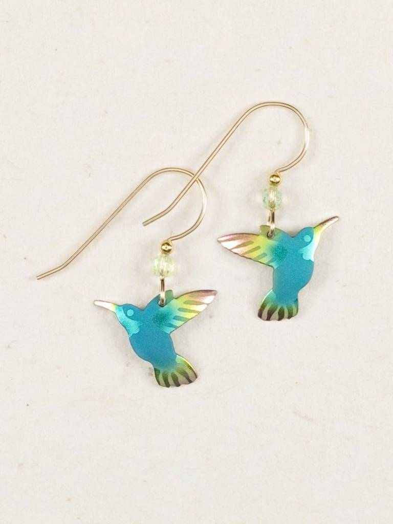 HOLLY YASHI Green Hummingbird Earrings *9034