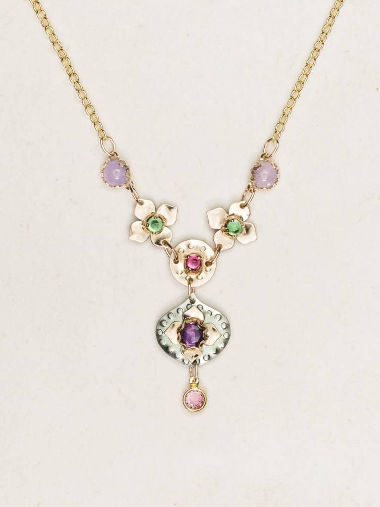HOLLY YASHI Sage Eternal Flowers Necklace *17003