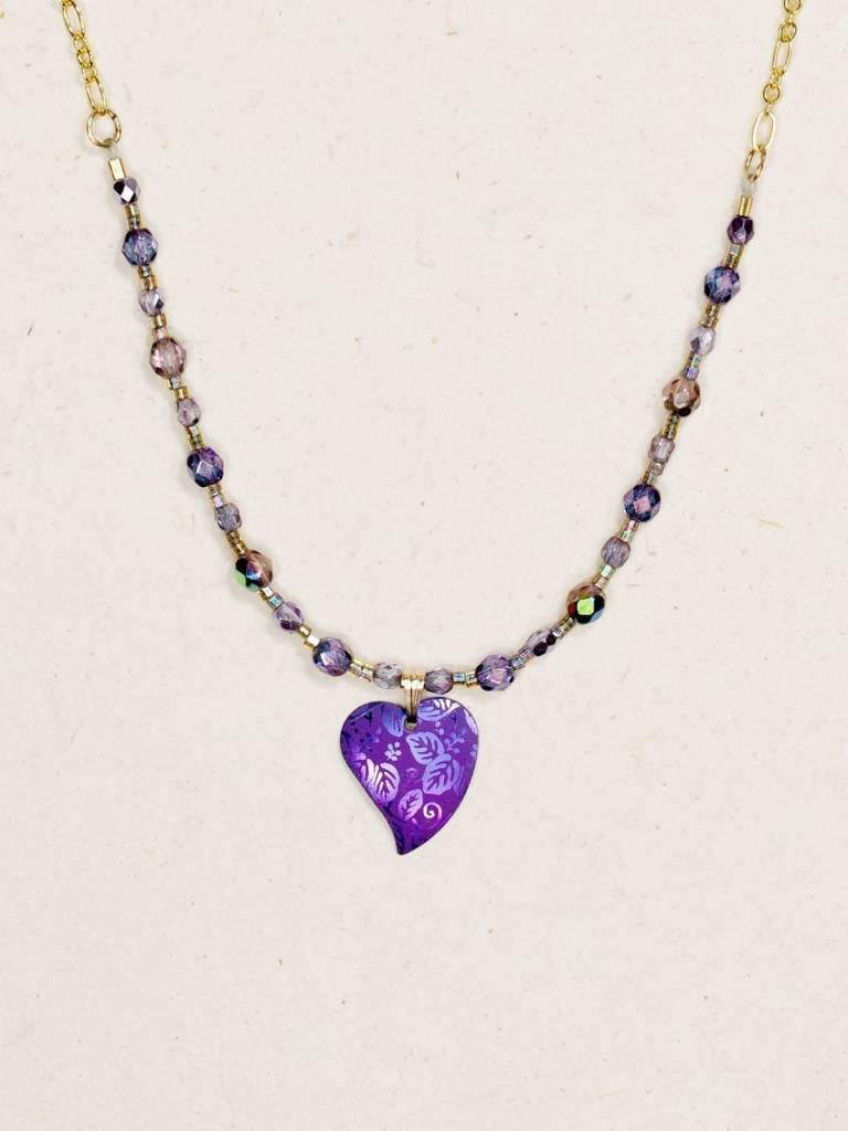 HOLLY YASHI Purple Healing Heart  Necklace *90216