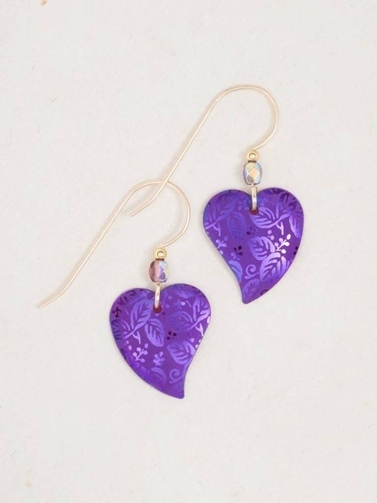 HOLLY YASHI Purple Healing Heart Earrings *90214
