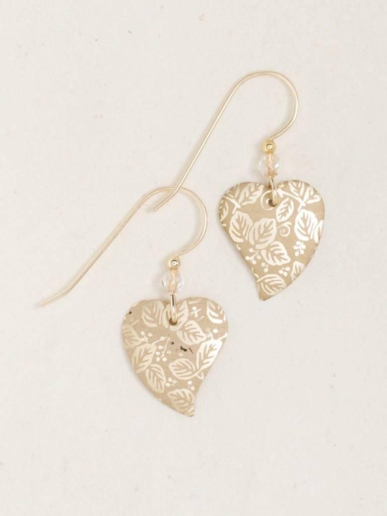 HOLLY YASHI Gold Healing Heart Earrings *90210