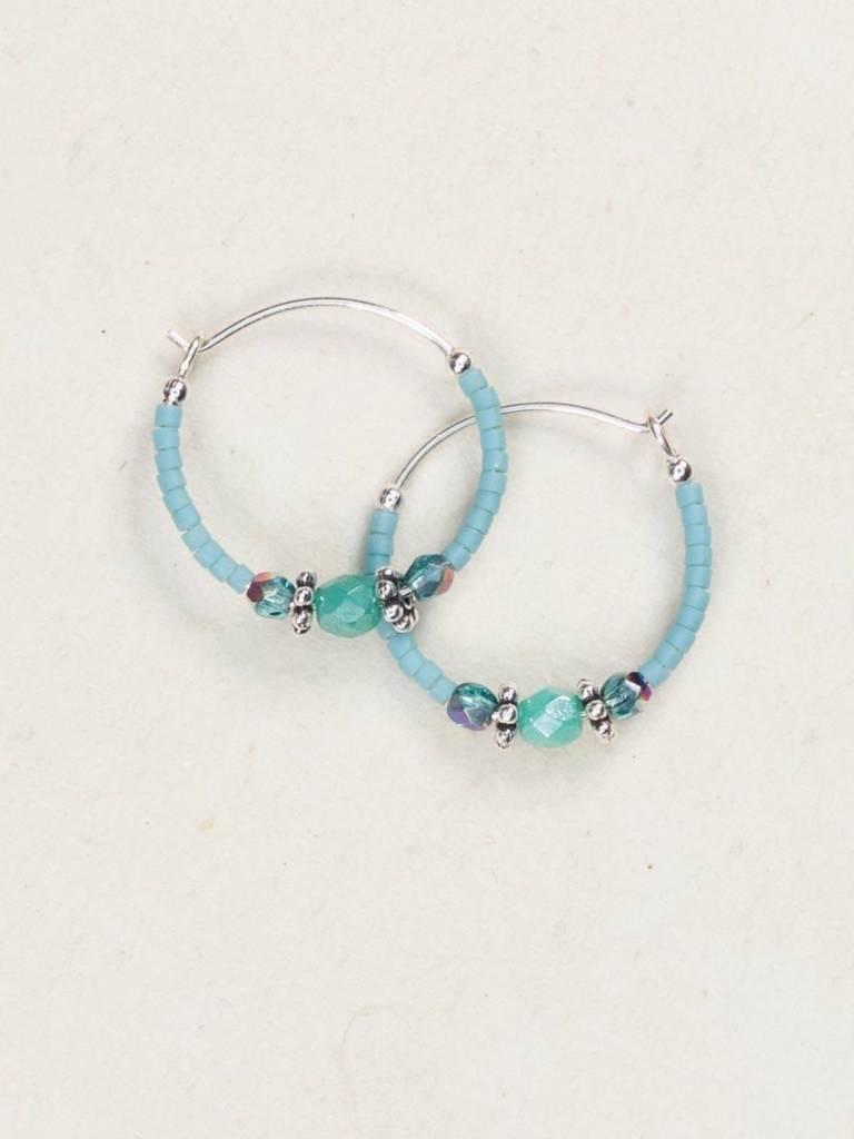 HOLLY YASHI Turquoise Sonoma Bead Hoop *9529