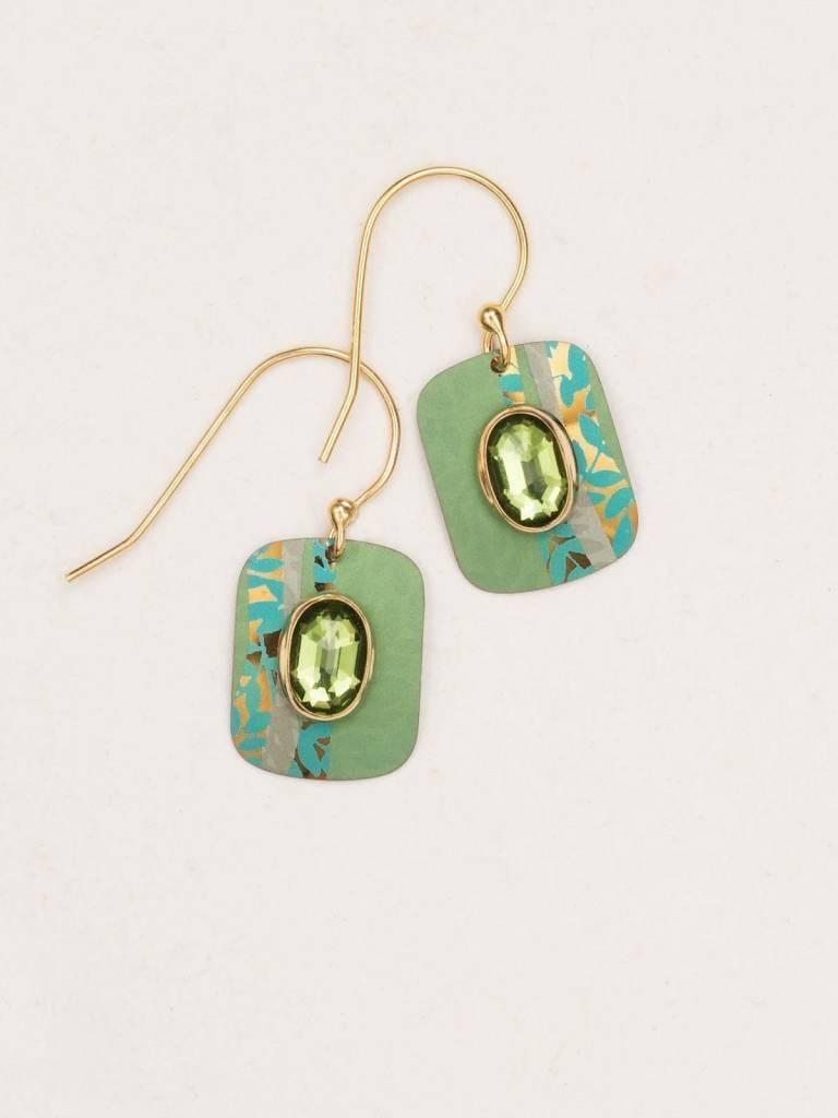 HOLLY YASHI Verdant Green Novella Earrings *14963
