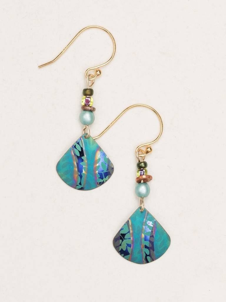 HOLLY YASHI Teal Painterly Earrings *14952