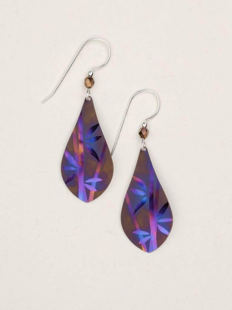 HOLLY YASHI Brown Blue Sariel Earrings *12412