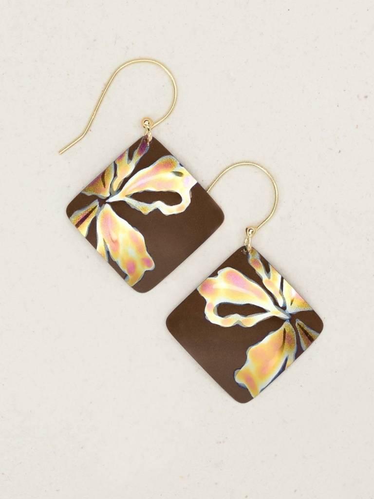 HOLLY YASHI Brown Peach Sedona Earrings *96186