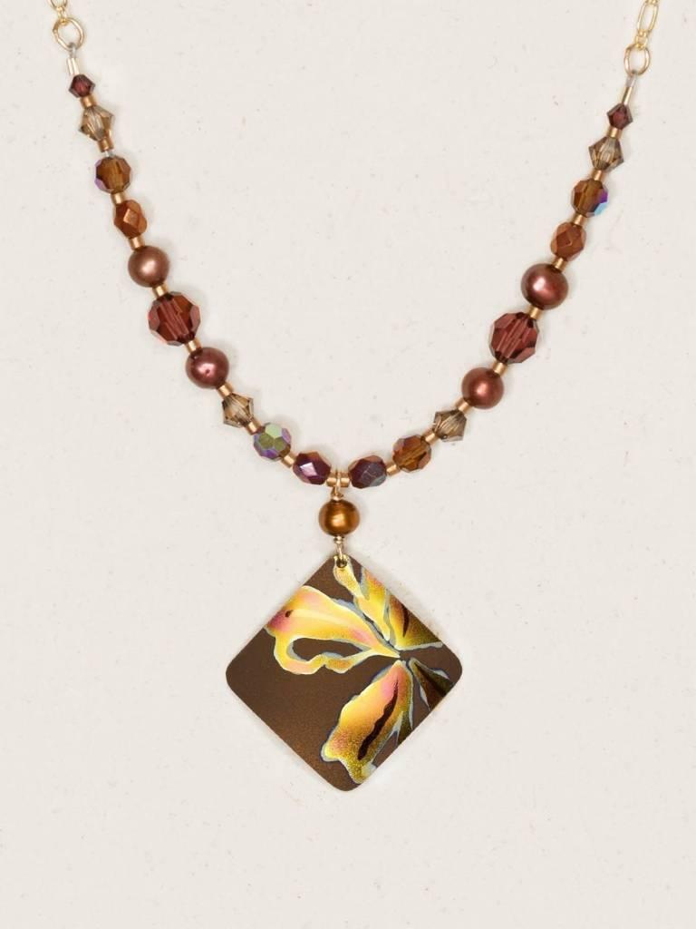 HOLLY YASHI Brown Peach Sedona Necklace *96189