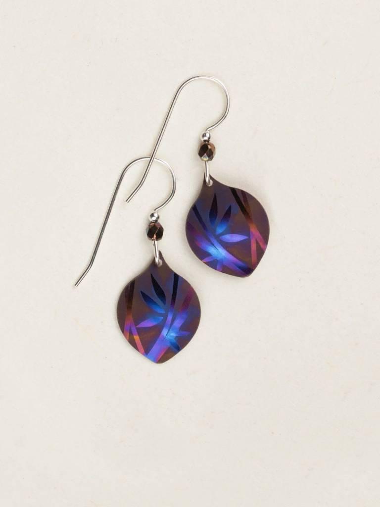 HOLLY YASHI Brown Blue Arietta Earrings *12443