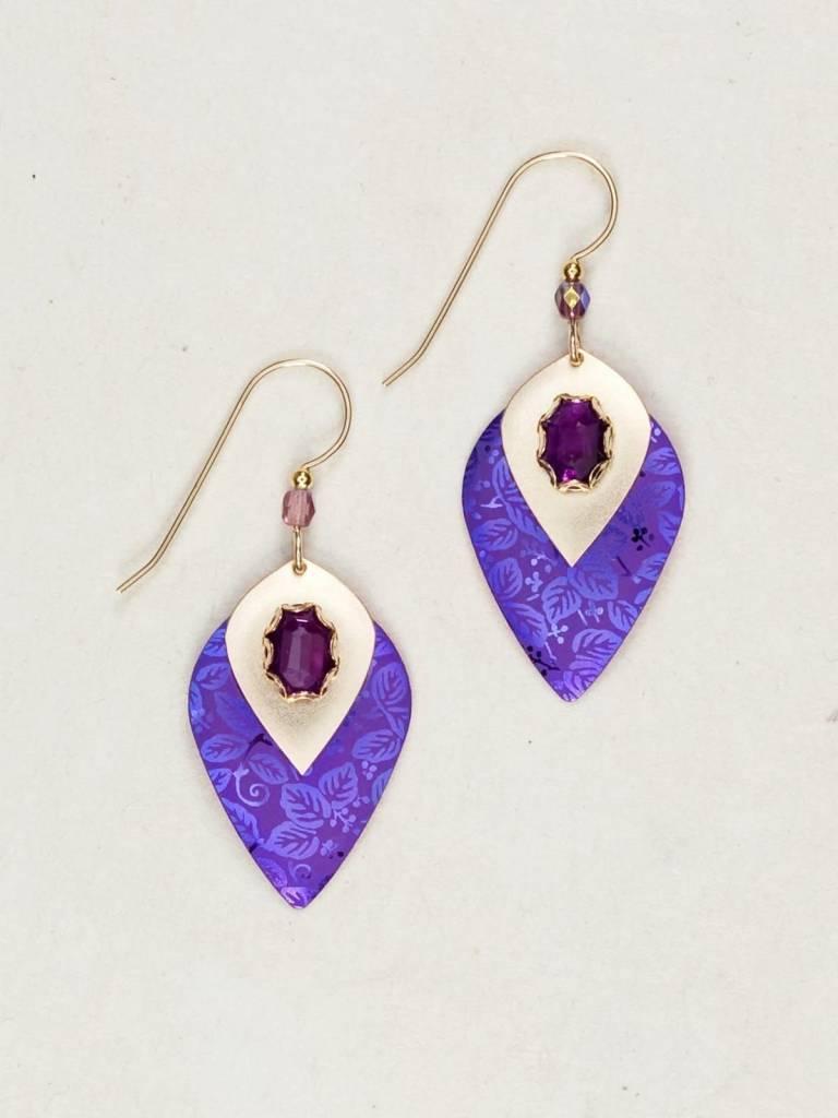 HOLLY YASHI Purple Arabella Earrings *92235 62
