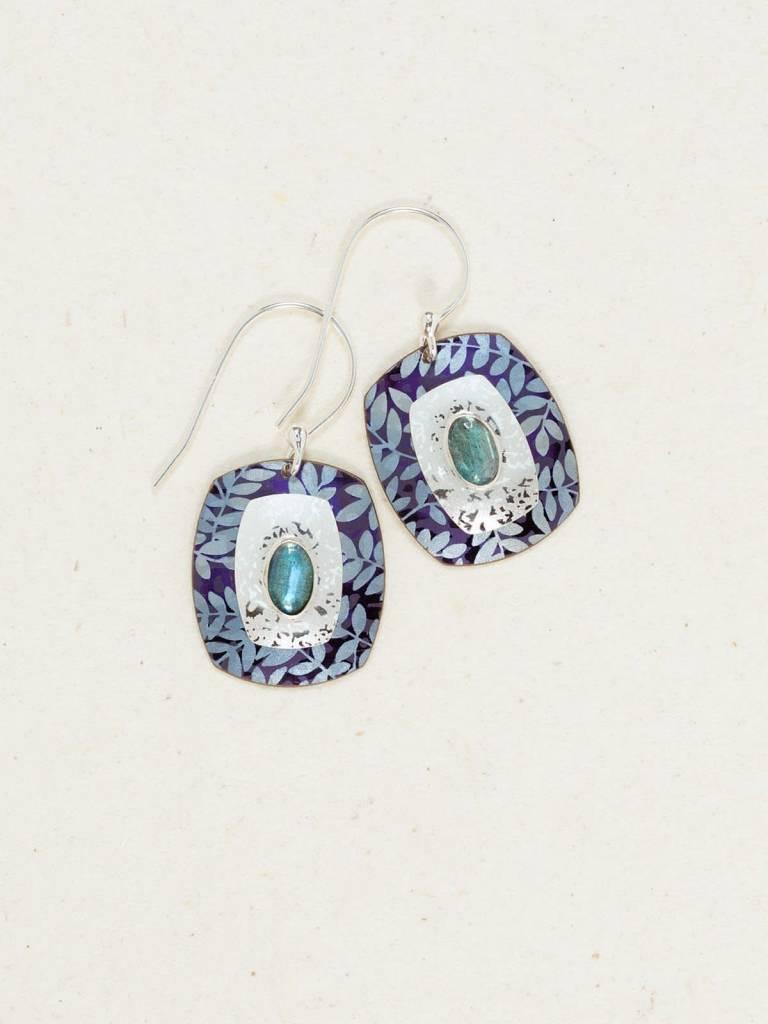 HOLLY YASHI Blue Enchanted Garden Earrings *80514