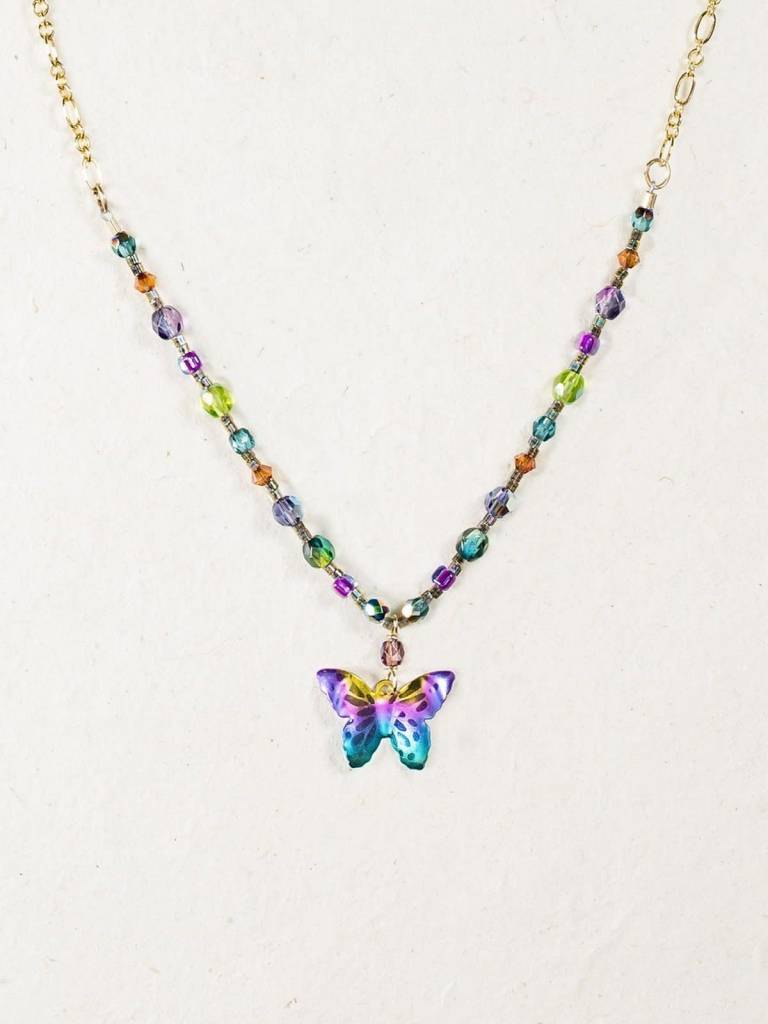 HOLLY YASHI Butterfly Beaded Necklace *9160