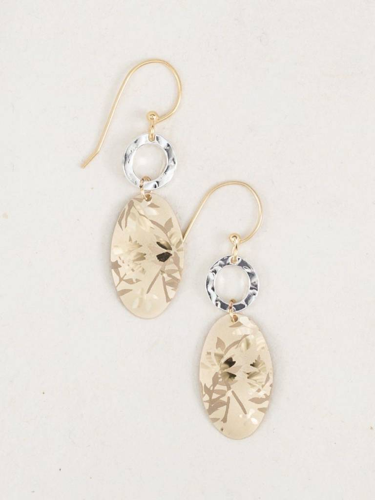 HOLLY YASHI Gold Wild Rose Earrings *96171