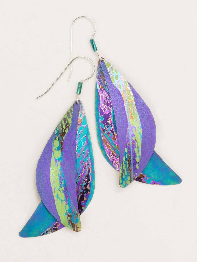 HOLLY YASHI Purple Ocean Song Earrings *70242