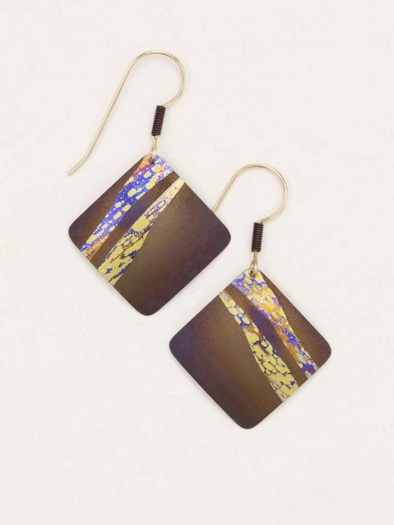 HOLLY YASHI Brown Seashore Earrings *70201