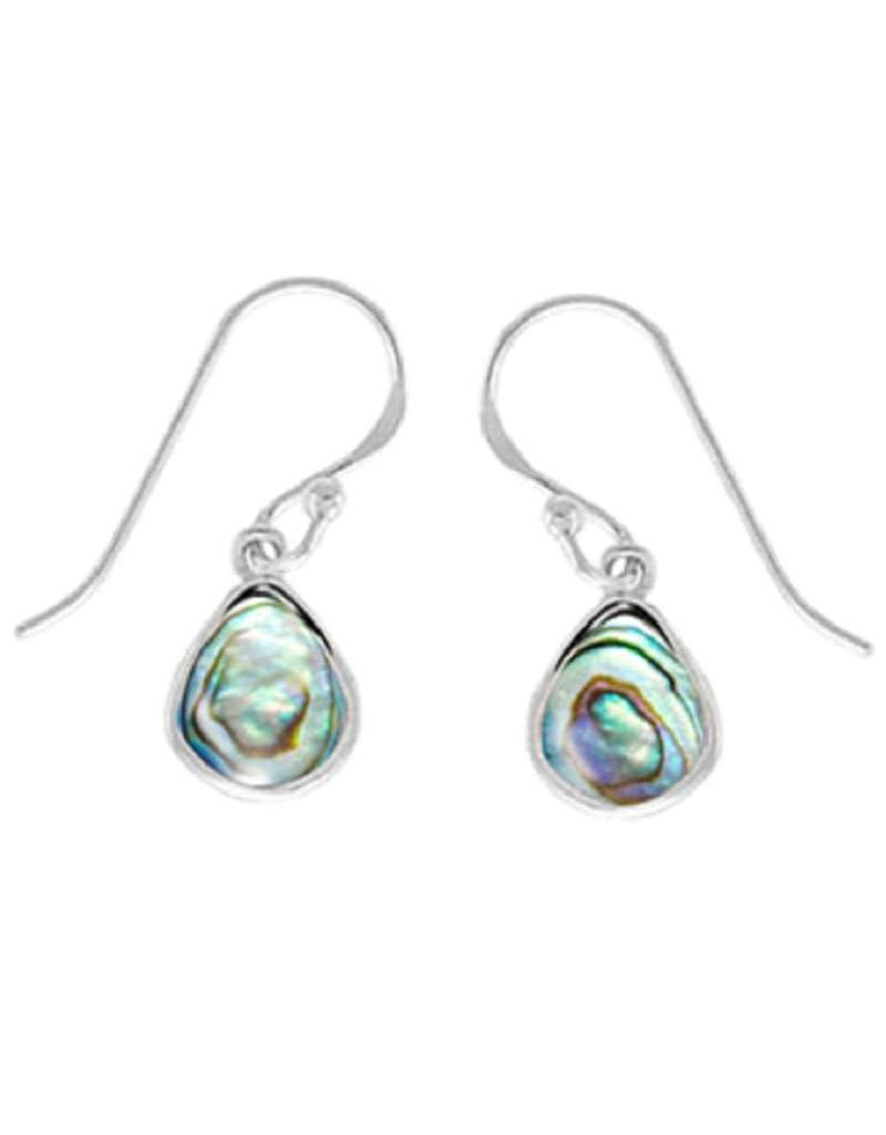 Abalone Earrings 9mm