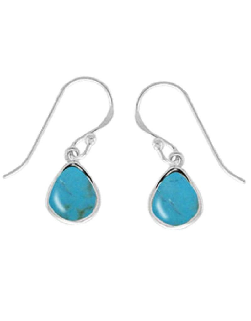 Turquoise Earrings 9mm