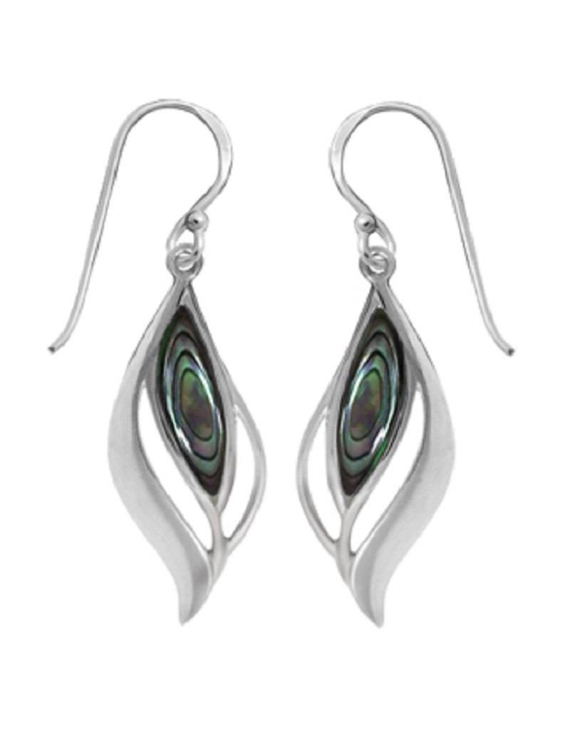 Leaf Abalone Earrings 25mm