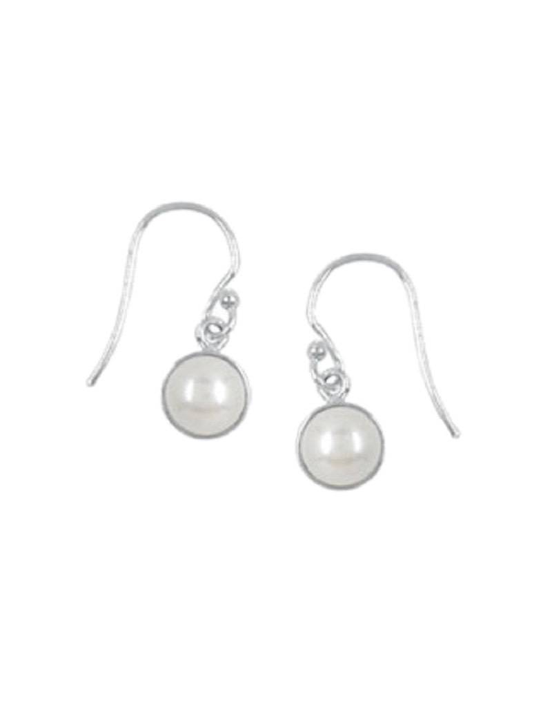 White Pearl Earrings 7mm