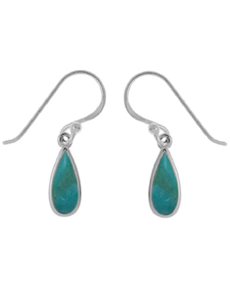 Teardrop Turquoise Earrings 11mm