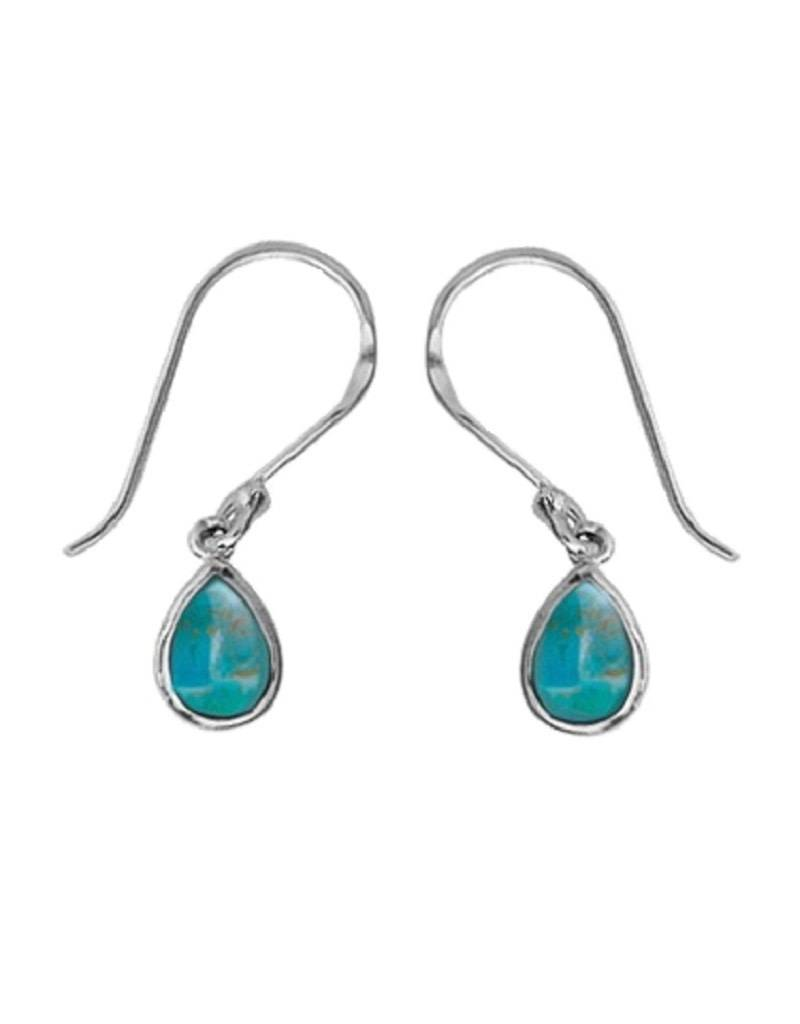 Teardrop Turquoise Earrings 8mm