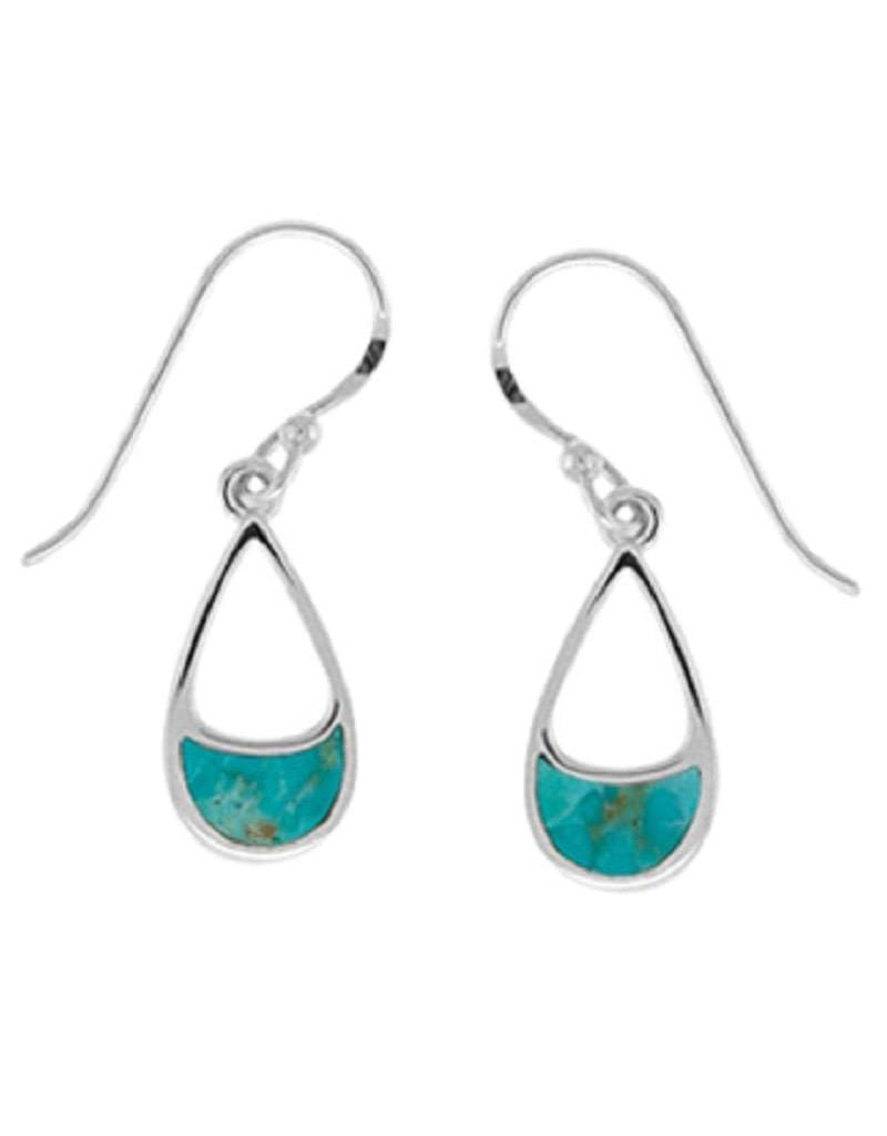 Teardrop Turquoise Earrings 14mm
