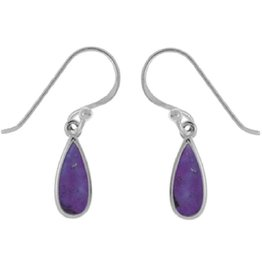 Purple Turquoise Earrings 11mm