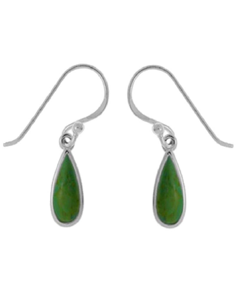 Green Turquoise Earrings 11mm