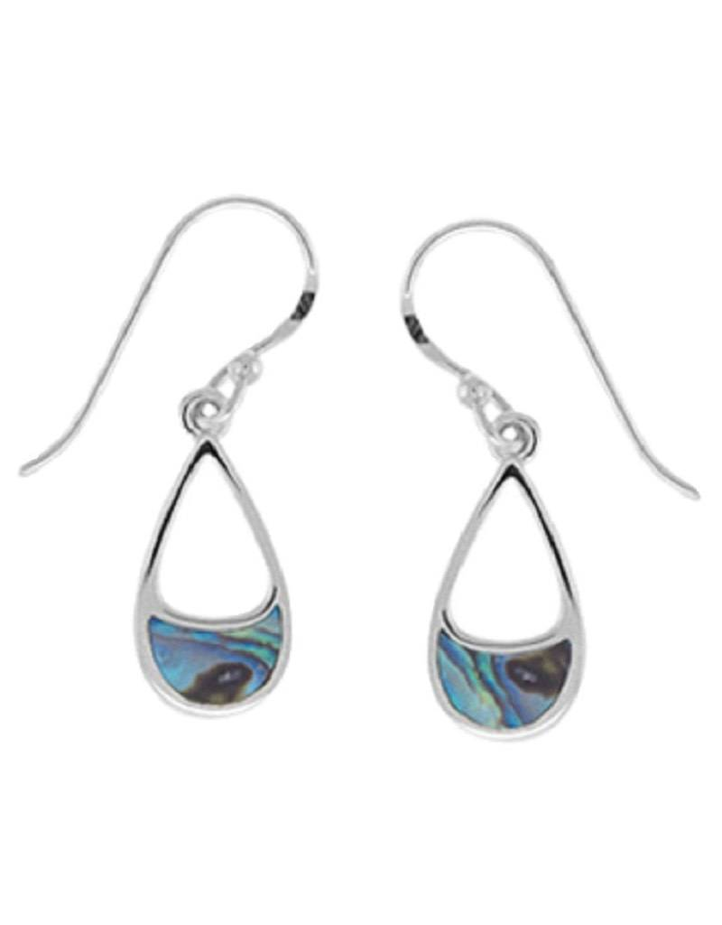 Teardrop Abalone Earrings 14mm