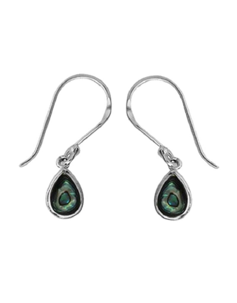 Teardrop Abalone Earrings 8mm