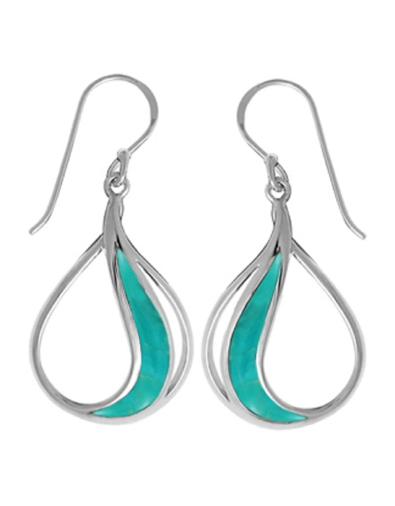 Teardrop Turquoise Earrings 25mm