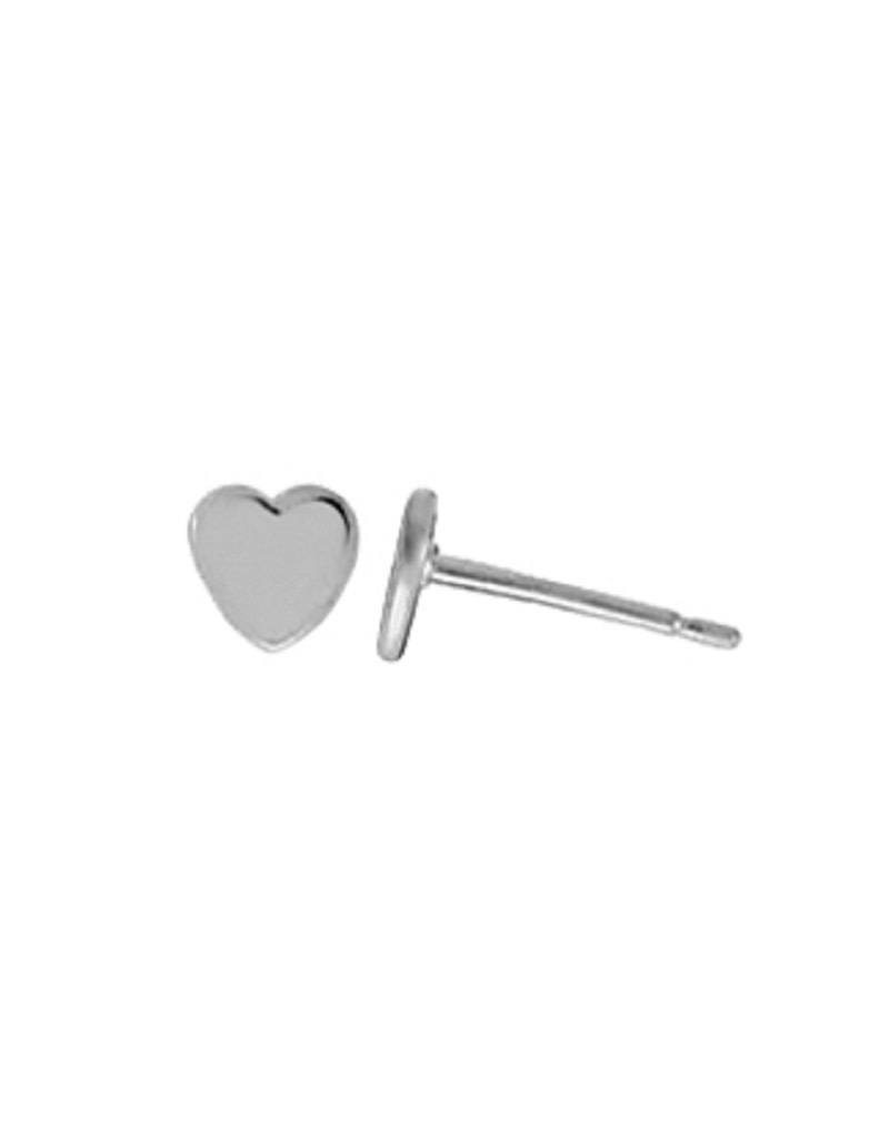Heart Stud Earrings 5mm