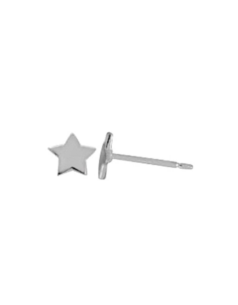 Star Stud Earrings 4.5mm