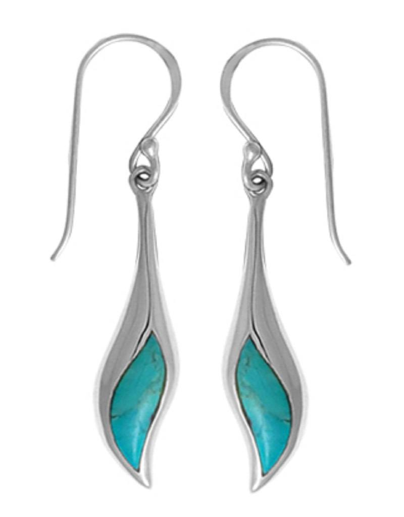 Wavy Turquoise Earrings